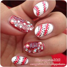 Sassy Paints: Baseball Nails #StLouis #Cardinals
