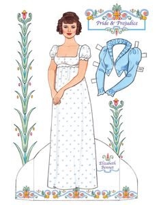 free Elizabeth Bennet paper doll Welcome to Dover Publications