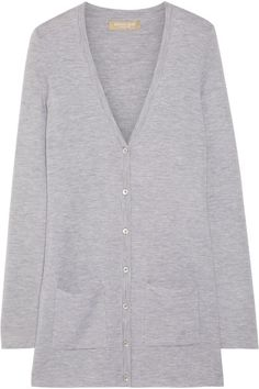 Gray cashmere Button fastenings through front cashmere Dry clean Imported Grey Cardigan, Cashmere Cardigan, Larsson And Jennings Watch, Michael Kors Collection, Top Designer Brands, Fashion Online, Knitwear, Sweaters For Women, Fashion Outfits