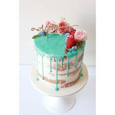 Sugar Bee Cakes @sugarbeecakes Naked Drip Cake...Instagram photo | Websta (Webstagram)