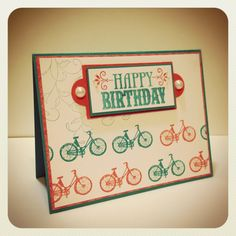 Bicycle stamp from Cats Life Press -  HB from Stampin' Up!