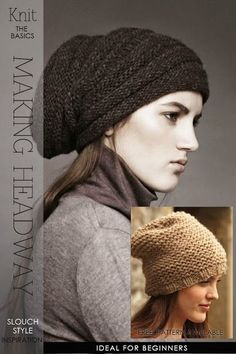 Popular slouch style hat | 9 simple and basic patterns available for this quick to knit hat | DiaryofaCreativeFanatic