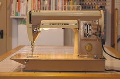 The 1957 Singer 301, one of my all-time  favorite vintage Singer machines. I'm up to #10 in my machine inventory, and there's only a fe...