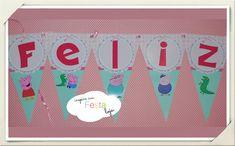 Bandeirolas Feliz Aniversário Peppa Pig