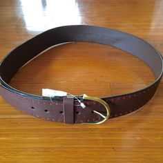 Coldwater Creek leather belt with red detail Coldwater Creek leather belt with red detail Coldwater Creek Accessories Belts