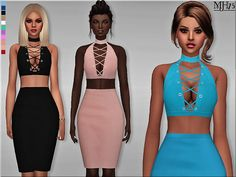 Criss Cross Dress by Margeh75 at Sims Addictions via Sims 4 Updates