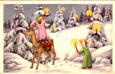 Jaanas Gut o Mixed - Christmas Gnome, Christmas Angels, Vintage Christmas, Christmas Cards, Yule Goat, Snow Maiden, Saint Nicholas, Winter Solstice, Dory