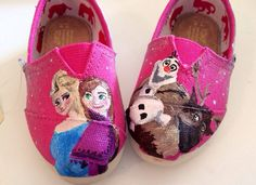 Frozen Shoes by all4theloveofshoes on Etsy, $100.00
