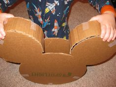 diy mickey mouse cut out cardboard