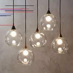 Firefly 5 Bulb Black Pendant Light - Modern Pendant Lighting - Ideas of Modern Pendant Lighting Pendant Track Lighting, Island Pendant Lights, Kitchen Lighting Fixtures, Pendant Chandelier, Dining Room Lighting, Modern Chandelier, Wall Sconce Lighting, Chandelier Lighting, Island Lighting