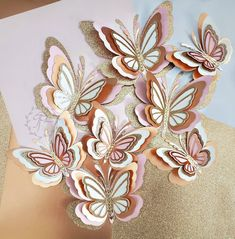 Butterfly Baby Shower, Butterfly Birthday, Applique Templates, Paper Butterflies, Paper Flowers, Origami Tutorial, 3d Paper Crafts, Diy And Crafts, Dragonfly Garden Decor