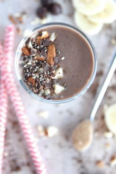 Chocolate Almond Butter Super Smoothie {Dairy Free & Paleo Friendly} - www.betterwithcake.com