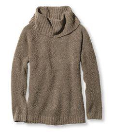 #LLBean: Cozy Bouclé Sweaters, Cowlneck Pullover