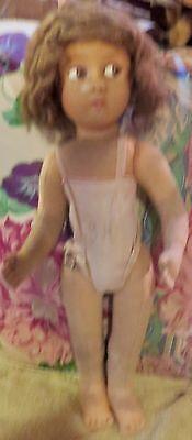 Vintage-17-034-C1920-Lenci-Doll-w-Mohair-Wig-Fixer-Upper-w-Tagged-Onsie-Undies