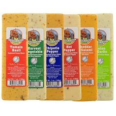 Bundle - Set of 6 Farmers Market Gourmet Wisconsin Cheese Bricks Gift Basket Fondue Food Blocks * For more information, visit image link. (This is an affiliate link) Garlic Cheese, Chipotle Pepper, Gourmet Cheese, Farmers Cheese, Wine Cheese, Salami And Cheese, Wisconsin Cheese, Cheese Stuffed Peppers, Tips