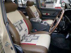 ランクル80 ペンドルトンコラボシートカバー装着例(サンミゲルホワイト) Toyota Landcruiser80 PENDLETON Seat cover