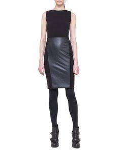 Sleeveless Paneled Combo Dress by Akris punto at Bergdorf Goodman.