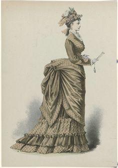 Vrouw met waaier, ca. 1875, No. 21, anoniem, ca. 1875