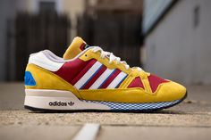 the latest bfb15 bc30e adidas Originals ZX 710 MustardBurgundy Sko Sneakers, Adidas Zx, Sport  Outfits,