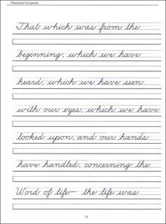 107 Best English work sheets images | Writing, Cursive handwriting ...