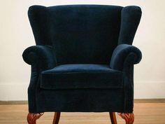Navy Velvet Wingback Chair Velvet Wingback Chair, Armchair, Furniture Design, Navy, Interior, Home Decor, Sofa Chair, Hale Navy, Decoration Home