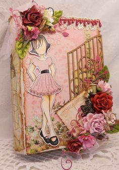 Have one to sell? Sell it yourself   ELITE4U LaDeDa4U Prima Doll Altered Book Box by Rina