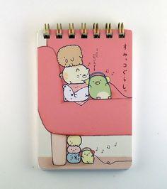janetstore.com: kawaii stationery,letter sets, stickers, gifts and more - San-X Sumikkogurashi spiral mini notebook 4974413597173