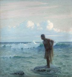 marine oil paintings: Lionel Walden, American 1861-1933