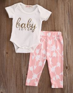 6b103ad0d56f 3Pcs Newborn Baby Girls Infant Outfit Set Romper Tshirt Pants Headband  Clothes 03M Pink    Learn more by visiting the image link.