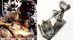 David Monday has built a heavy-metal life with a weld iron and old engine parts.