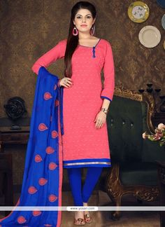 Buy Likeable Pink Cotton Punjabi Boutique Suit Design For Women Punjabi Suit Boutique, Boutique Suits, Indian Look, Indian Ethnic Wear, Indian Style, Churidar Suits, Salwar Kameez, Pakistani Outfits, Indian Outfits