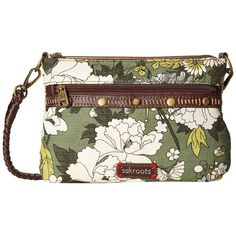 Sakroots Artist Circle Campus Mini (Olive Flower Power) Cross Body... (£32) ❤ liked on Polyvore featuring bags, handbags, shoulder bags, handbags shoulder bags, sakroots handbags, mini purse, purse shoulder bag and mini crossbody handbags