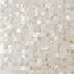 Splashback Tile Mother of Pearl White Square Pearl Shell Mosaic Floor and Wall Tile - 3 in. x 6 in. Tile Sample-C3C9 - The Home Depot