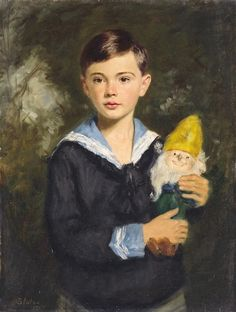 Artwork by Oszkar Glatz, Portrait of a young boy, Made of Oil on canvas Miniature Portraits, Impressionist Paintings, Paintings I Love, Boy Art, Learn To Paint, Art For Kids, Art Photography, Illustration Art, Children