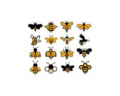 Biene Tier Symbol - Biene tier symbol Premium Vektoren The Effective Pictures We Offer You About room ideas A quality - Honey Bee Tattoo, Bumble Bee Tattoo, Animal Symbolism, Desenho Tattoo, Bee Art, Aesthetic Drawing, Flower Quotes, Bees Knees, Bee Keeping