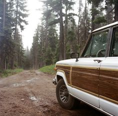 some days i miss my '80's jeep wagoneer, listening to john denver, and driving down a muddy road...