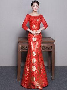 37 Best Wedding Qipao images  419fd5a1f8d5