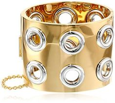 Marc by Marc Jacobs Gold-Tone Peephole Hinged Cuff Bracelet | JEWELRY FOR WOMENS