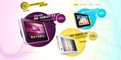 HCL Me Tablet's Microsite by Md Amir, via Behance
