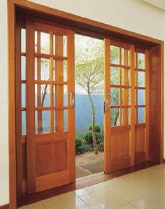 Sliding Glass Door Design Woods 30 Ideas For 2019 Wooden Patio Doors, Wooden Door Design, Main Door Design, Window Design, Wood Doors, Sliding French Doors, French Doors Patio, Sliding Glass Door, Glass Doors