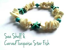 Hey, I found this really awesome Etsy listing at https://www.etsy.com/listing/209147265/sea-shell-carved-turquoise-starfish