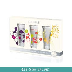 Caudalie Limited Edition Hand Cream Trio, $25.00 #birchbox