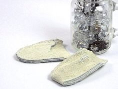 Handmade Leather Thimble SET White Suede Leather by MeiMeiSupplies Etsy USA, give the gift of Comfort!