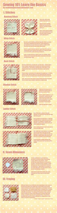 basic hand sewing stitches pdf