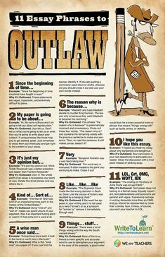 Essay phrases to outlaw