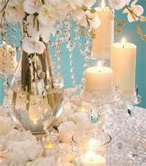 Crystal and Candles Centerpiece