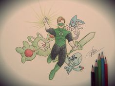 DC Comics x Pokemon (Green Lantern - Hal Jordan) by goldprovip.deviantart.com on @deviantART