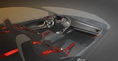 Volkswagen Design Vision GTI Interior Design Sketch