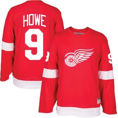 Gordie Howe Detroit Red Wings CCM Heroes of Hockey Alumni Jersey - Red