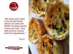 Our ‪#‎quiche‬ gets WOW @YelpEastBay reviews. Stop in today & enjoy the goodness. ‪#‎oakland‬ ‪#‎dessert‬ ‪#‎pastry‬ www.bakeshopoakland.com